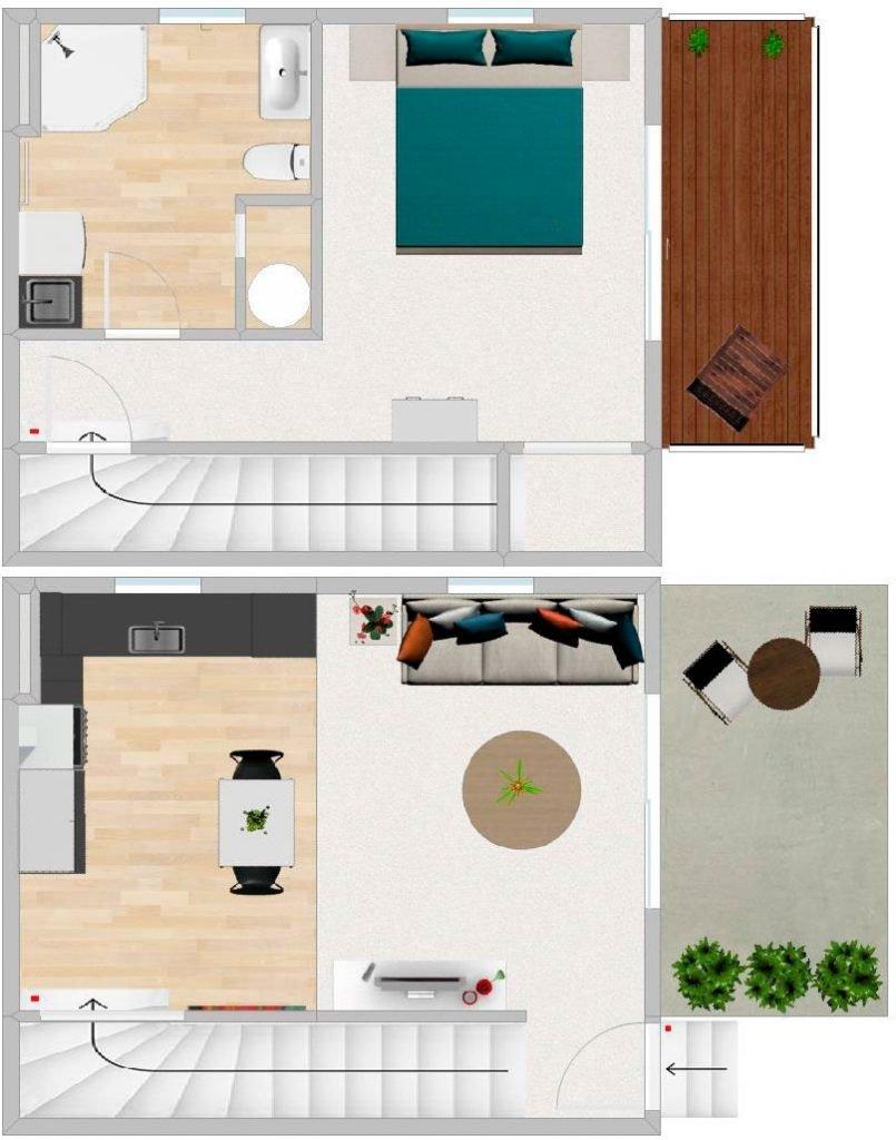 FIRSTBUILD ONESIE DOUBLE Floorplan