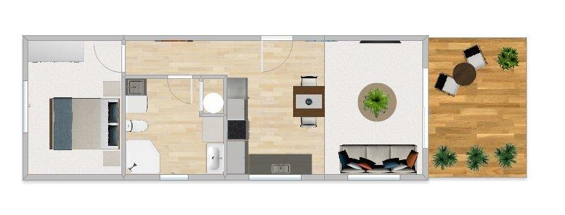 Onesie 48 1 bedroom 1 bathroom