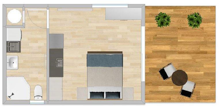 FirstBuild Studio 24 1 bedroom 1 bathroom