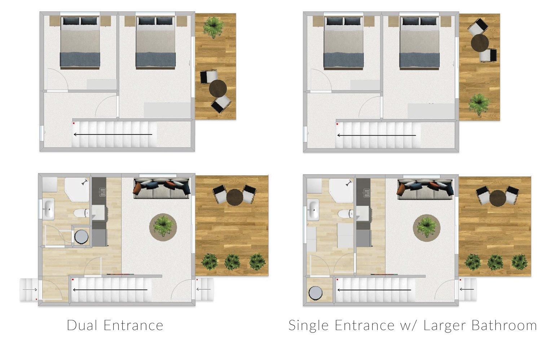 FirstBuild Couple 60 2 bedrooms 1 bathroom 2 levels